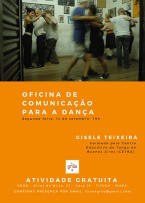 Novidade: Comunicação na Dança com GiseleTeixeira