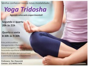 Tridosha Yoga com Tais(tejasvinii)